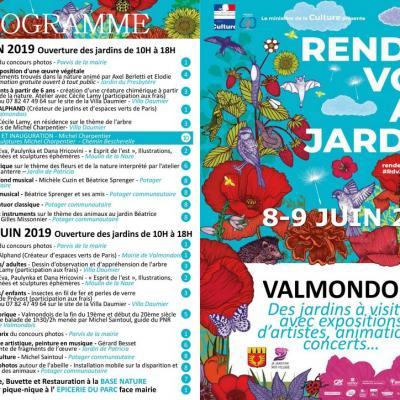RV aux jardins Valmondois 95430, les 8et9 juin 2019
