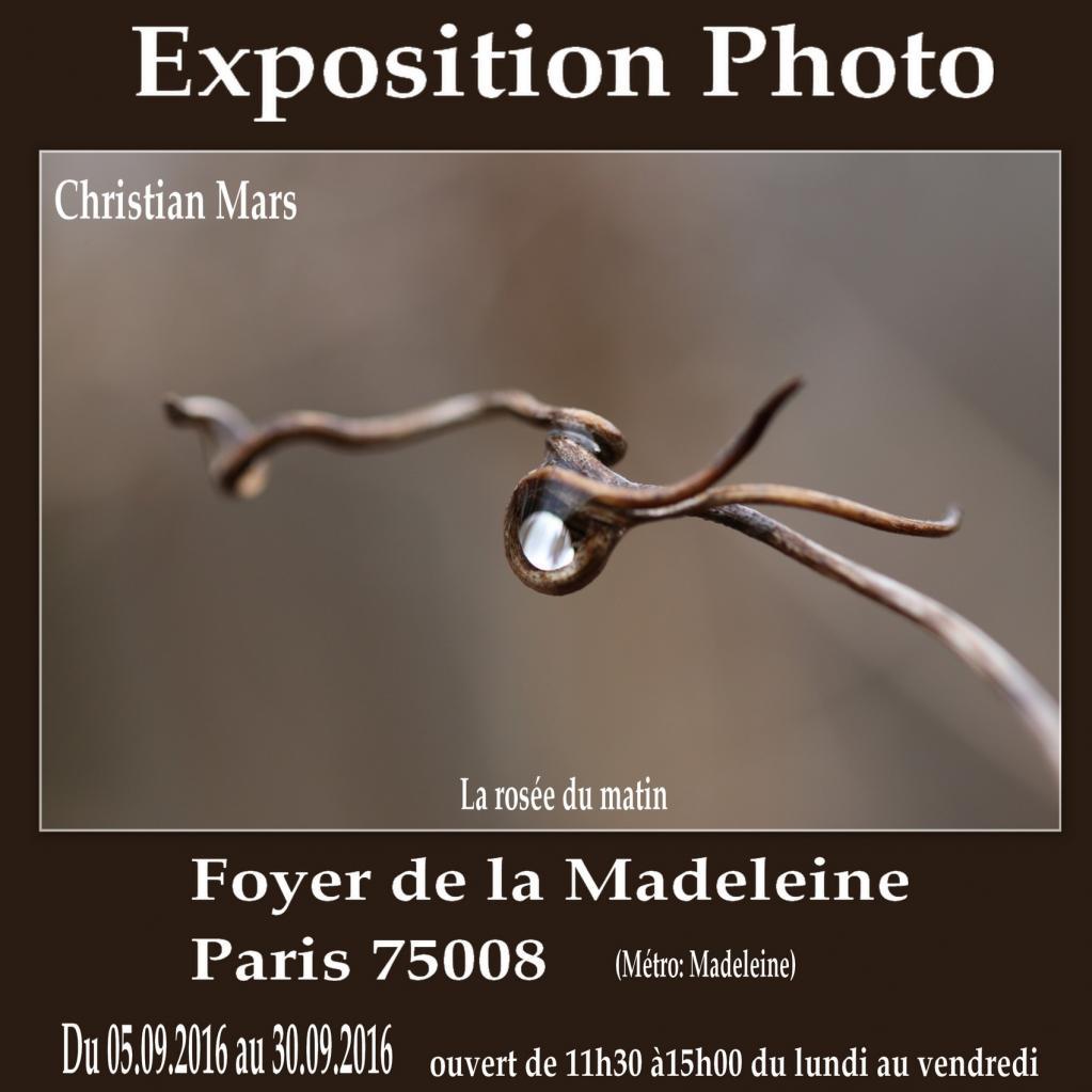 Expo foyer de la Madeleine (Paris 7508) Septembre 2016
