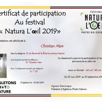 Festival d'Egletons 2019     L'éphémère est primé
