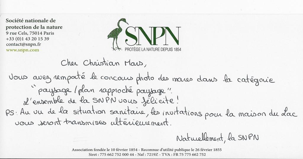 Concours Photo des mares SNPN