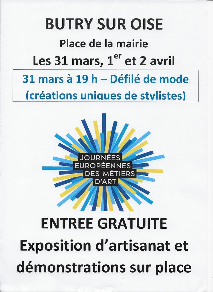 Expo JEMA (Journées Européennes des métiers d'art) 31.03 et 1et 2. 04. 2017