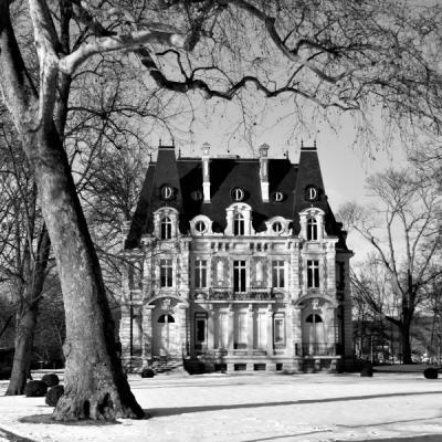 Château de Conti sous la neige (120x 80)